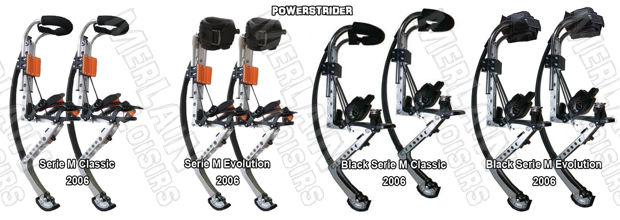 powerstrider adulte classic evolution black serie M 2006 echasses urbaines