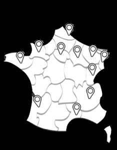 Carte de France de clubs echasses urbaines